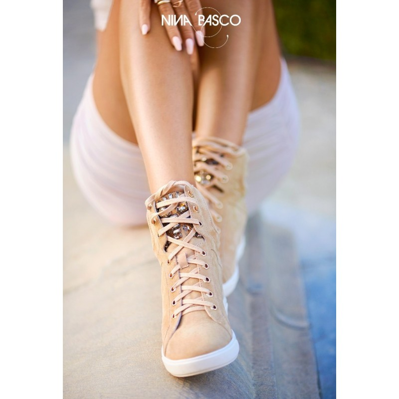 Sneakersy ADEMARA beige