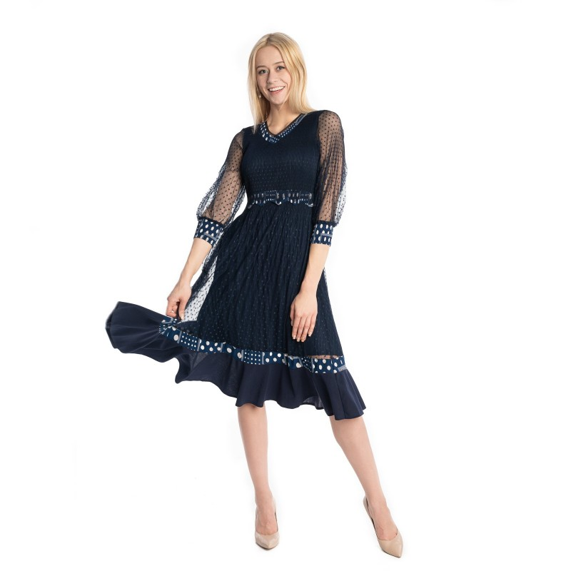 Sukienka VALENTINA granatowa