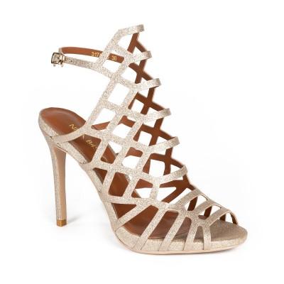 Sandały na szpilce ELITE złote