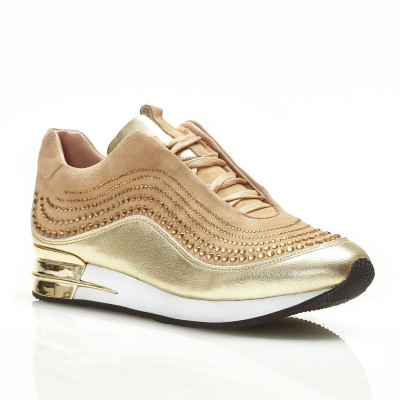 Sneakersy Zita gold