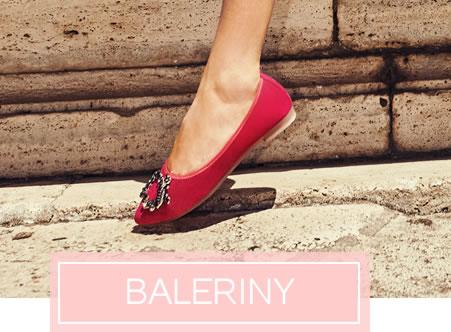 Baleriny damskie, baleriny skórzane